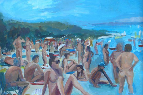dijana lukic umjetnicki radovi slikarstvo i kiparstvo rijeka kategorija pejzazi brodovi krovovi reljefi nudisticka plaza