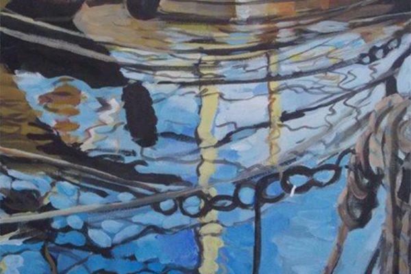 dijana lukic umjetnicki radovi slikarstvo i kiparstvo rijeka kategorija pejzazi brodovi krovovi reljefi odsjaj brodice