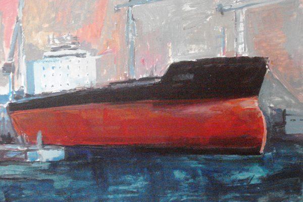 dijana lukic umjetnicki radovi slikarstvo i kiparstvo rijeka kategorija pejzazi brodovi krovovi reljefi porinuce broda 3 maj rijeka