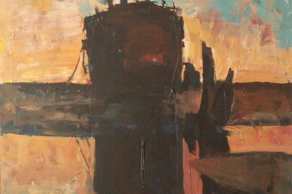 dijana lukic umjetnicki radovi slikarstvo i kiparstvo rijeka kategorija pejzazi brodovi krovovi reljefi porinuce broda 3 maj zalazak sunca